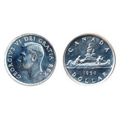 $1.00.  1950.  Proof-Like-65.  Brilliant.