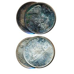 $1.00.  1965. Type Three.  1966.  Both Mint State-64 or better, with nice toning.