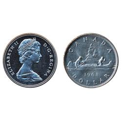 Nickel $1.00.  1968. Proof-Like-66. Heavy Cameo;  1970. Proof-Like-66. Heavy Cameo.  Both dollars ar