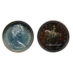 Silver $1.00.  1972.  Specimen. Re-Engraved or Doubling of the reverse.