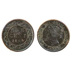 1858.  ICCS Fine-15;  1859. Wide 9/8.  ICCS Very Fine-30.  Substantial corrosion.