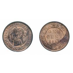 1859. Double Punched, Narrow 9 #2.  ICCS Mint State-64. Red.  Excellent strike with clean fields and