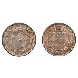 1859. Wide 9/8.  ICCS Mint State-65. Red.  95% original luster.  Believed to be the 'Finest' known e