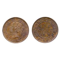 1859. Wide 9/8.  ICCS Extra Fine-45.  Strong nine over eight punching.  Traces of luster.