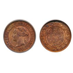 1876-H.  ICG graded Mint State-65. Red-Brown.  40% remaining red luster.