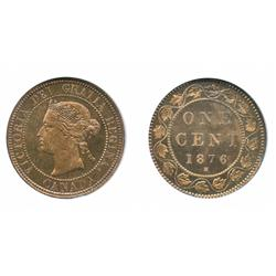 1876-H.  Both ICCS and NGC graded Specimen-65. Red-Brown.  50% remaining luster on deep mirror gem f