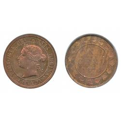 1876-H. (No H). Both ICCS and PCGS graded Specimen-64.  A rare Pattern.  40% remaining luster.