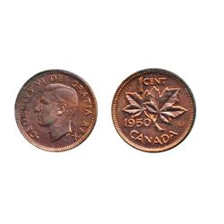 1949. 'A' Between Denticles.  1950.  Both ICCS Mint State-64. Red.  Both with 70% luster.