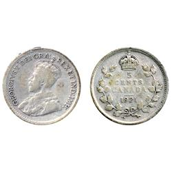 1921.  An attractive example of the 'Prince' of Canadian coins.  Very Good-8.  With a pedigree from