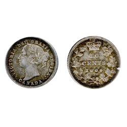 1886. Re-Punched Small 6 variety. Obverse port. #5.  ICCS Extra Fine-40.  Medium heavy toning.