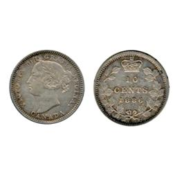 1886. Large, Knobbed 6.  Obverse port. #5.  ICCS Extra Fine-40.  Lightly toned.