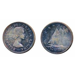 1952.  ICCS Mint State-65.  Light rainbow hues.  1953, NSF.  ICCS Mint State-65.  Medium heavy, mult