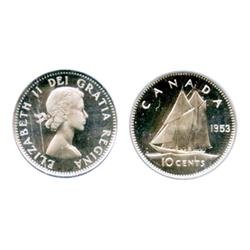 1953. Shoulder Fold.  PCGS graded Proof-Like-67. Ultra Heavy Cameo contrast.  A brilliant Gem from t