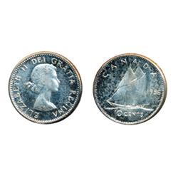 1955.  ICCS Mint State-65.  Designated as a 'Cameo'. Brilliant;  1956.  ICCS Mint State-65.  Designa