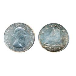 1956 Dot.  ICCS Mint State-65.  Lightly toned.
