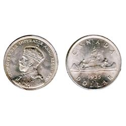 1935.  ICCS Mint State-65.  A fully white and frosty dollar.