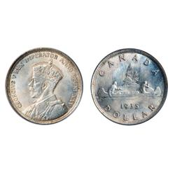 1935.  PCGS graded Mint State-64;  1936.  ICCS Mint State-64.  Both choice examples with full luster