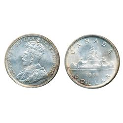 1936.  ICCS Mint State-64;  1936.  ICCS Mint State-63.  Both with very light toning.
