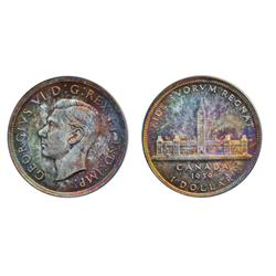 1939.  PCGS graded Mint State-65.  Medium to heavy toning.  A highly attractive Gem.