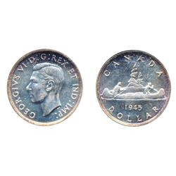 1945.  Both ICCS and ANACS graded Mint State-63.  Fully brilliant.
