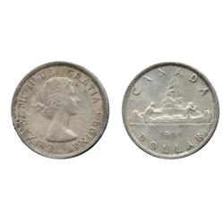 1955.  1955, Arnprior. With 'Die Breaks'.  Both dollars are ICCS Mint State-60.
