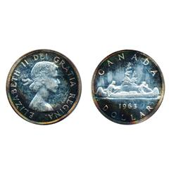 1958.  ICCS Proof-Like-65. 'Cameo'. Brilliant;  1963.  ICG graded Proof-Like-67. 'Cameo'.  Medium he