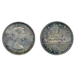 1963.  PCGS graded Mint State-65.  Gem luster and superb toning.