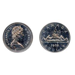1975. Nickel.  Doubled Date.  ICCS Proof-Like-65.  A scarce variety.