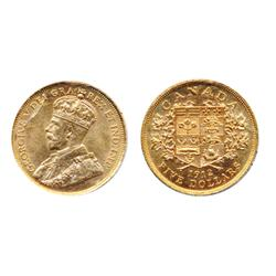 $5.00 Gold.  ICCS Mint State-63.  Attractive satin fields.  Brilliant orange gold luster.