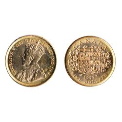 $5.00 Gold.  1913.  ICCS Mint State-62.  Orange luster.