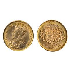 $5.00 Gold.  1914.  ICCS Choice AU-58.  Orange luster.