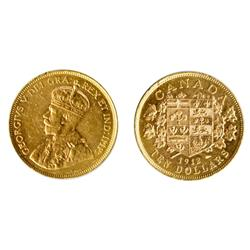 $10.00 Gold.  1912.  Extra Fine-45.  Golden luster.