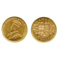 $10.00 Gold.  1913.  ICCS AU-55.  Light orange and yellow luster.