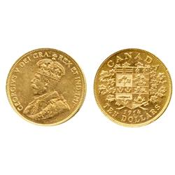 $10.00 Gold.  1914.  ICCS AU-50.  Yellow luster.