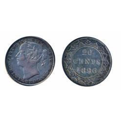 1894. Obverse port. #1.  ICCS Very Fine-30.  Brilliant;  1896. Large 96. Obverse port. #1.  ICCS Ver