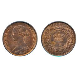 One Cent.  1861.  PCGS graded Mint State-64. Red-Brown.  40% red luster.  Very clean cheek and field