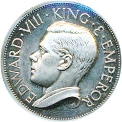 AUSTRALIA.  Fantasy Pattern Crown.  1936.  Edward VIII.  A high relief silver Proof.  An older piece