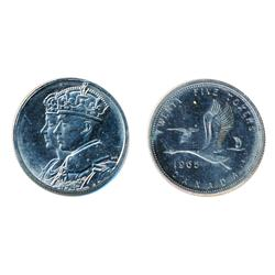 TEST Token.  25 Cents.  CH-TT-25.3B.  Royal Visit.  Conjoined busts.  Non-magnetic.  Mint State-63.