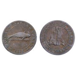 Breton-520. LC-1. Magdalen Island. 1815. 1d.  ICCS Fine-15.