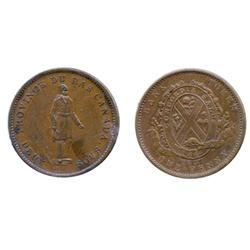 Breton-521. LC-9A1.  1d.  1837.  City Bank.  ICCS Extra Fine-45.