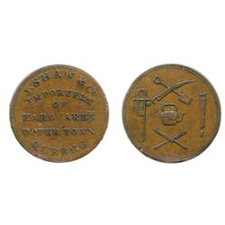Breton-521. LC-9A1.  1d.  1837.  City Bank.  ICCS Very Fine-30;  Breton-565. CH-19A1.  J. Shaw.  ICC