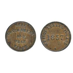Breton-919.  PE-7C2.  1857. P.E.I.  ICCS  Extra Fine-40.
