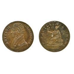 Breton-993.  British Colonies.  1825.  1/2d.  ICCS Extra Fine-40.