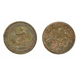 Breton-994. LC-54D2.  1815.  1/2d.  ICCS Mint State-60.