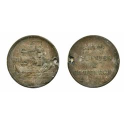 Breton-997. Lees-21. Ships, Colonies & Commerce.  ICCS Very Good-8. Bent & holed.
