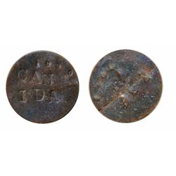 Anonymous Token.  Obv: ST. AMANT, 1820.  Rev: CANIDA.  Both incused on a thin copper flan.  Unlisted