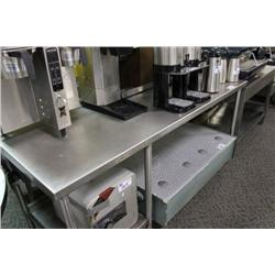 7FT RAISED HEIGHT STAINLESS STEEL COUNTER