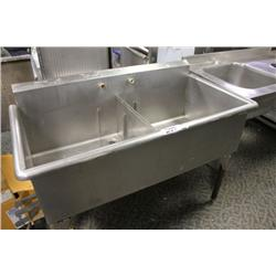 LARGE DOUBLE STAINLESS STEEL SINK