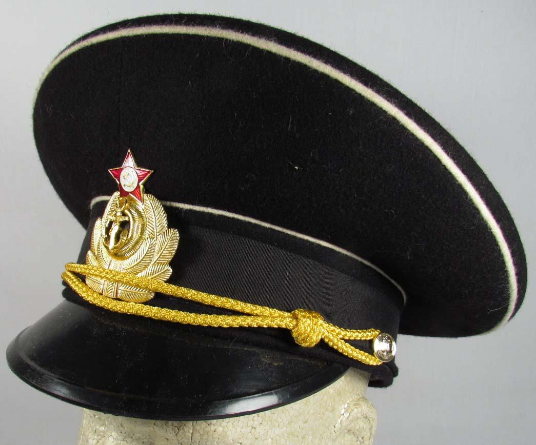 new arrivals 2072d 0f665 SOVIET NAVY OFFICERS VISOR HAT. Loading zoom