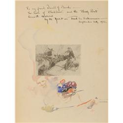 Frank E. Schoonover, Watercolor inside the book Blackbeard and Buccaneer
